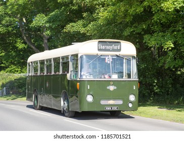 BRIDLINGTON, EAST YORKSHIRE UK, JUNE 10 2018. Ex Todorden and Joint Omnibus Committee 1967 Leyland Leopard L1 single deck bus at Bridlington, East Yorkshire, UK