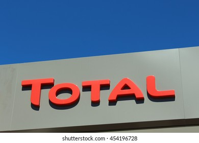 BRIE COMTE ROBERT, FRANCE - JULY 17, 2016: Total logo in Brie Comte Robert, France.