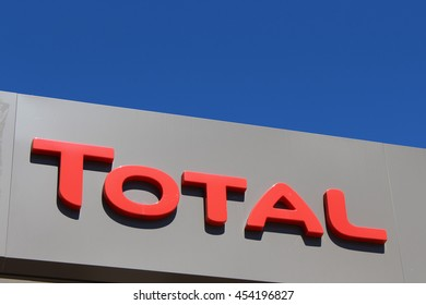 BRIE COMTE ROBERT, FRANCE - JULY 17, 2016: Total sign in Brie Comte Robert, France.