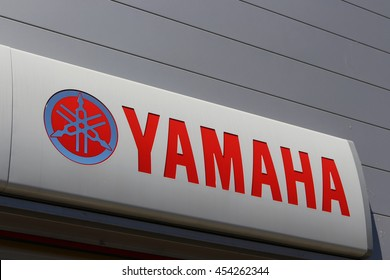 BRIE COMTE ROBERT, FRANCE - JULY 17, 2016: Yamaha sign in Brie Comte Robert, France.