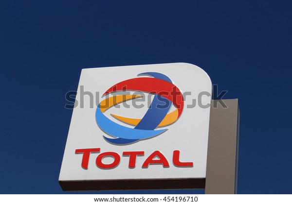 BRIE COMTE ROBERT, FRANCE - JULY 17, 2016: Total sign. Total is a private French oil company
