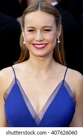 Brie Larson at the 88th Annual Academy Awards held at the Dolby Theatre in Hollywood, USA on February 28, 2016.