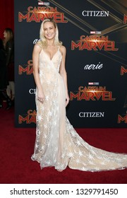 Brie Larson at the World premiere of 'Captain Marvel' held at the El Capitan Theater in Hollywood, USA on March 4, 2019.