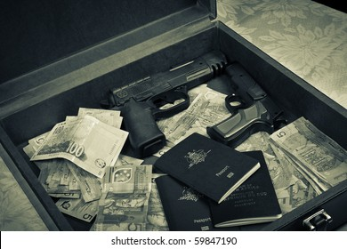 Money And Guns Images Stock Photos Vectors Shutterstock
