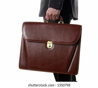 Briefcase in Hand of Businessman
