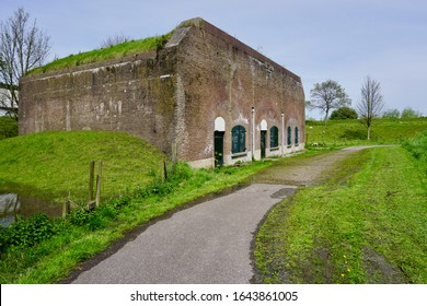 Brielle, The Netherlands - May 01 2018: Old bunker on the ramparts of the town of Brielle