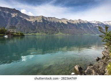 Brienz Lake, Interlaken region in Switzerland