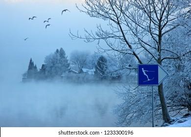 BRIENZ TOWN, SWITZERLAND. Picturesque Brienz village, Brienz lake (Brienzersee), Bernese Oberland, Switzerland.