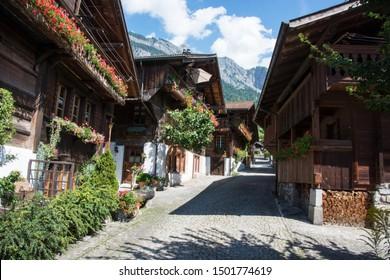 Brienz - village at Lake Brienz in Switzerland