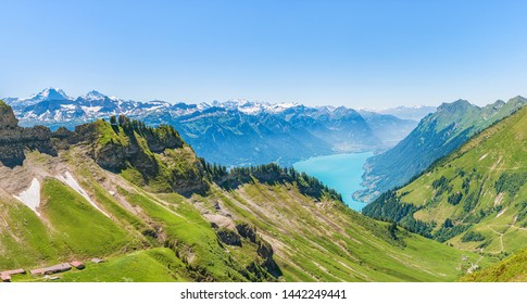 Brienzer Rothorn Mountain and Lake Brienz (Red Horn of Brienz), Emmental Alps, Switzerland, Europe