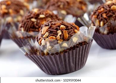 Brigadeiro (or brigadier), a brazilian chocolate sweet