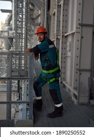 Brigadier of high-rise electricians. A large plant in Siberia for the processing of hydrocarbons. From the editor. Tobolsk; Russia; July; 29; December 2019