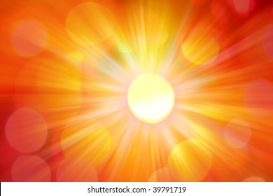 Bright abstract background. Hot yellow and orange tones