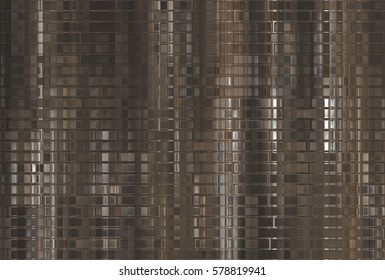 Bright abstract mosaic brown background with gloss. illustration beautiful.