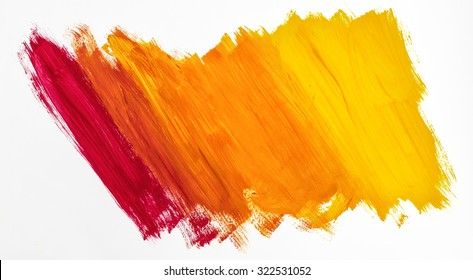 Bright abstract painting painted with acrylic paints