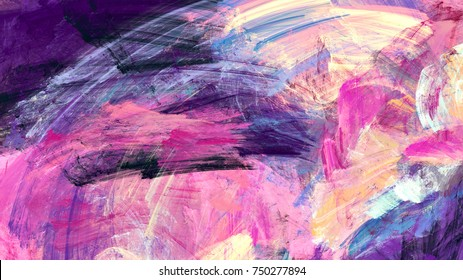 Bright artistic splashes. Abstract painting color texture. Modern futuristic pattern. Multicolor dynamic background. Fractal artwork for creative graphic design.