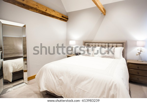 Bright Bedroom Interior Design | Royalty-Free Stock Image