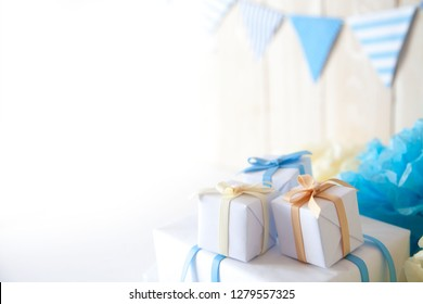 Bright blue decor for Birthday, party and new year.
