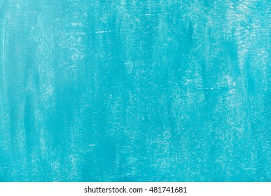 Bright blue painted old plywood texture, background and wallpaper
