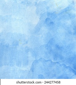 Bright blue painted textured as abstract background.