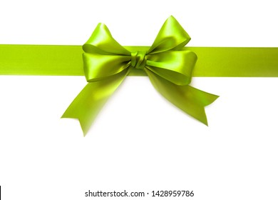 Bright bow for a gift. Close up
