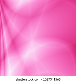 Bright card pink modern wavy abstraction design