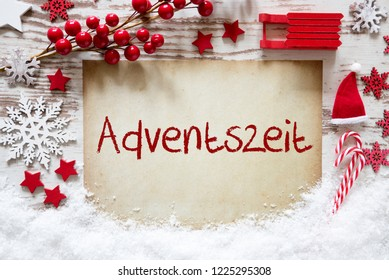 Bright Christmas Decoration, Snow, Adventszeit Means Advent Season