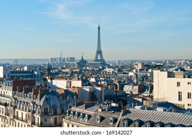 Bright and clear spring day in Paris
