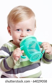bright closeup portrait of adorable baby