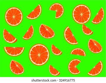Bright collection of orange slices
