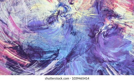 Bright color abstract painting texture. Artistic motion background. Modern futuristic dynamic pattern. Fractal artwork for creative graphic design