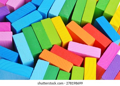 bright colored background rectangles