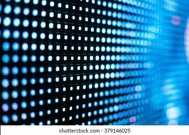 Bright colored blue LED smd screen with stars - close up background
