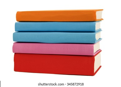 Bright Colored Books Blank Spines