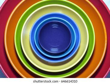 Bright Colored Bowls