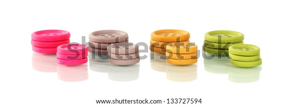 Bright colored buttons isolated on white