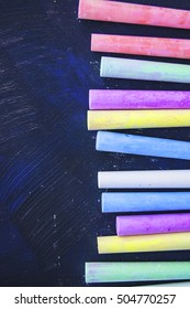 Bright colored crayon