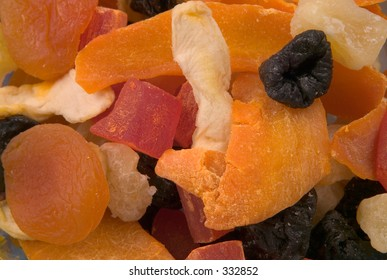 bright colored dried fruit background