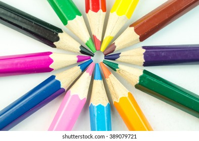 Bright colored pencils