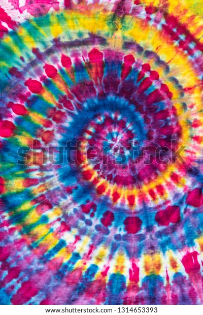 Bright Colorful Abstract Psychedelic Ice Tie Dye Swirl Design Pattern