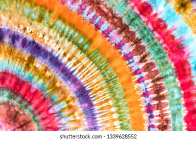 Bright Colorful Abstract Psychedelic Tie Dye Rainbow Design Pattern