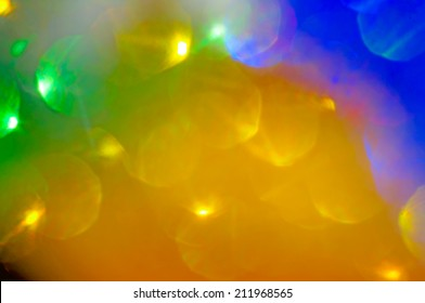Bright colorful blurred bokeh as abstract background