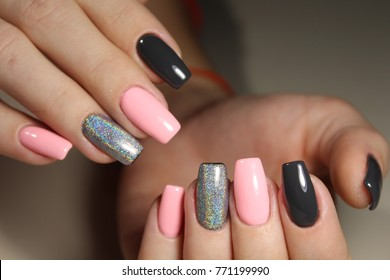 Bright, colorful design of manicure Summer 2017