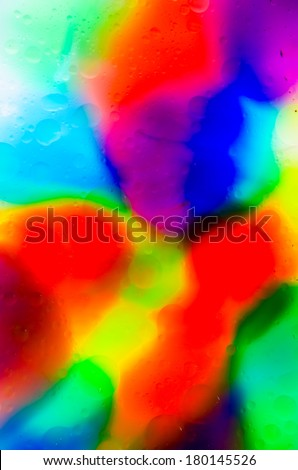 Bright Colorful Food Coloring Water Oil Stock Photo (Edit Now ...