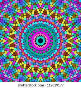 Bright colorful kaleidoscope pattern.