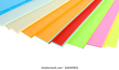 bright colorful paper isolated on white