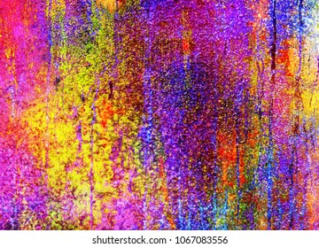 bright colorful wall