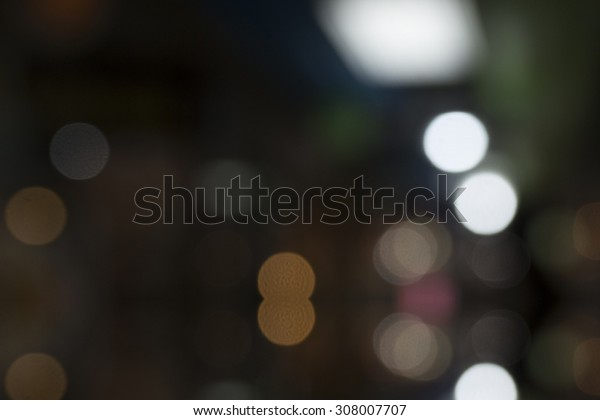 Bright colors, beautiful bokeh light from a black backdrop