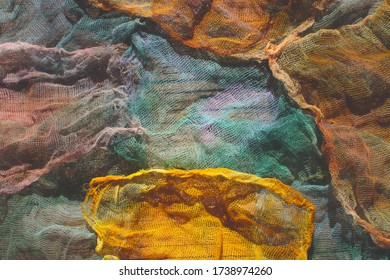 bright colors concept. naturalny dyed textiles  - Shutterstock ID 1738974260