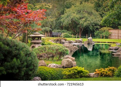 Bright Colors in Holland Park's Japanese Kyoto Garden. A place of serenity in the busy city of London